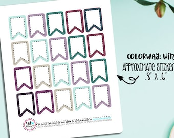 Page Flag Planner Stickers! Will Fit Erin Condren, Kikki K, Inkwell Press, Plum Planner, Happy Planner etc.