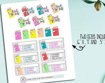 Sticker Order Planner Stickers! Perfect for all size planners! Will fit ECLP, IP, Kikki K, Happy Planner..etc,