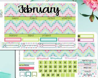 February 2018 Monthly Kit! Available for HP Classic, ECLP, Recollections, HP big and Hp mini.