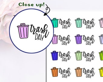 Doodle Trash Day Stickers