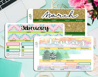 2018 First Quarter Monthly Kit! Available for HP Classic, ECLP, Recollections, HP big and Hp mini.