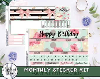 Birthday Month Monthly kit! Available in 5 sizes!
