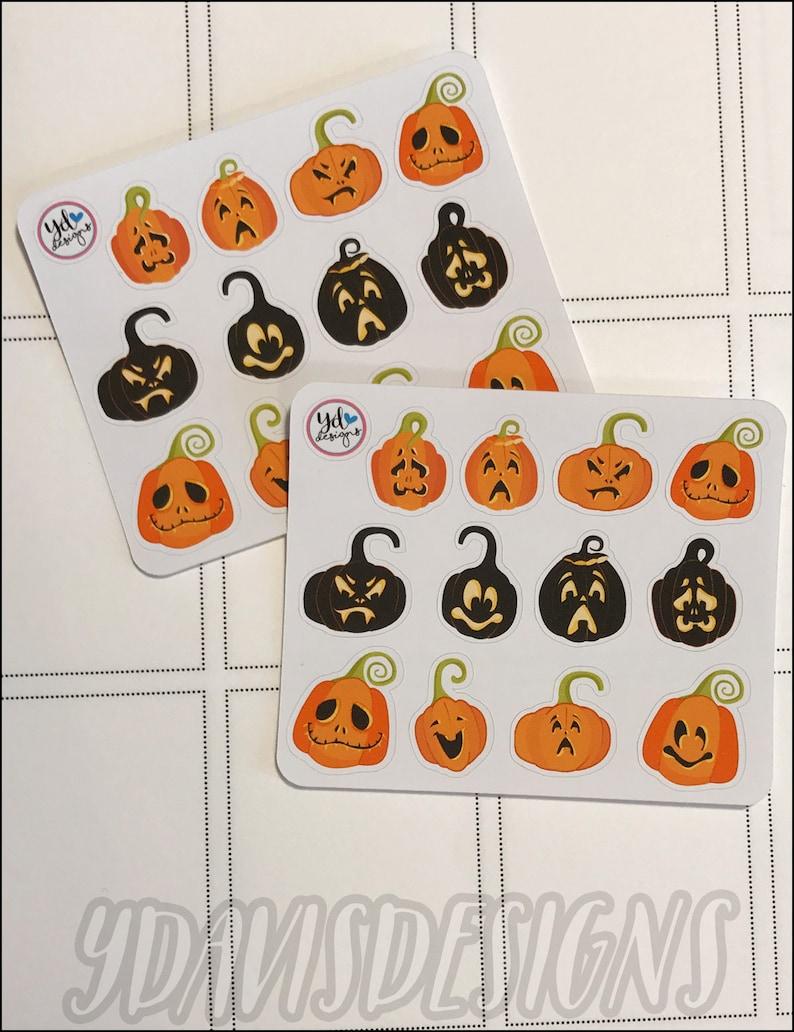 Mini Sheet of Spooky Pumpkin Stickers!
