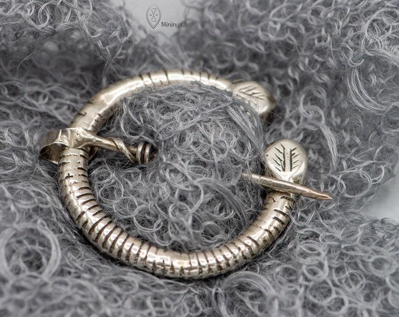 Antique Berber silver brooch from Tunisia