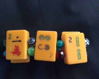Vintage Bakelite Mahjong Bracelet