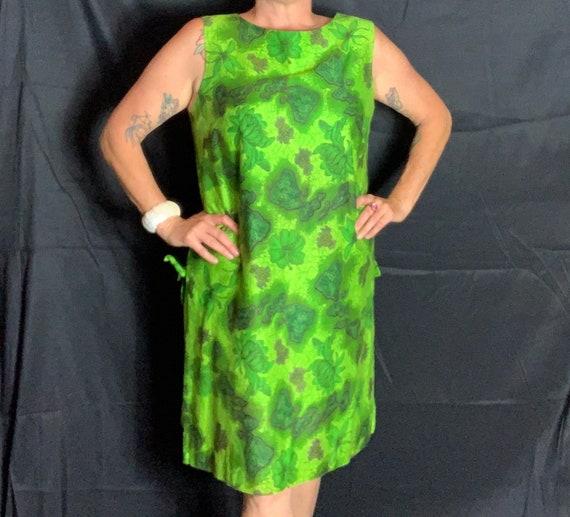 Vintage Green Hawaiian Dress - XL