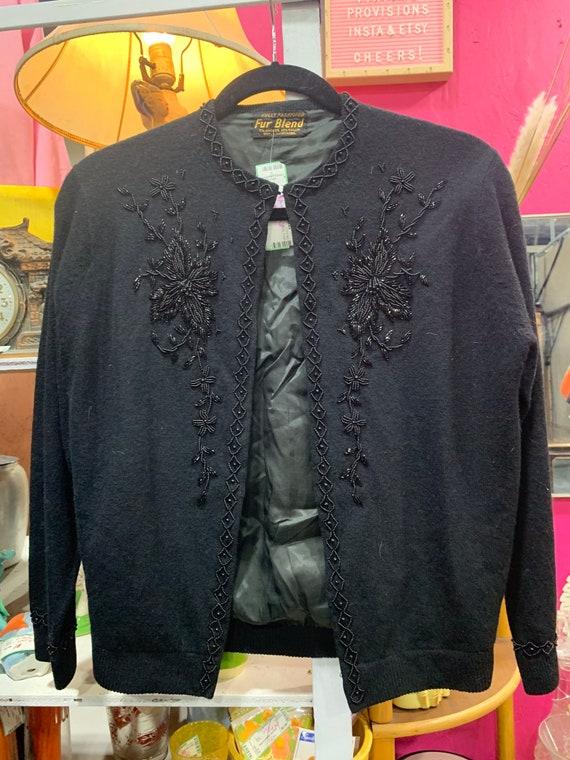 Vintage 1980 Beaded Statement Sweater