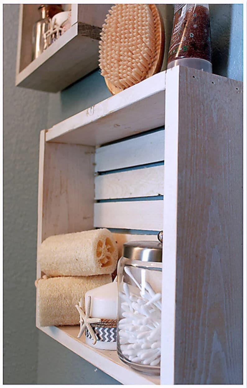 2a160ee0 Shiplap bathroom Shelves Nautical Bathroom Decor Nautical | Etsy