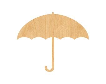 Umbrella Laser Cut Out Wood Shape Craft Supply