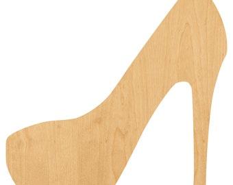 d421d7a09d4 High Heel Shoe Laser Cut Out Wood Shape Craft Supply - Unfinished