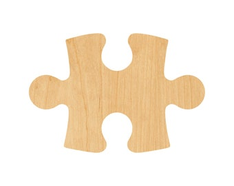 Puzzle Piece Laser Cut Out Wood Shape Craft Supply