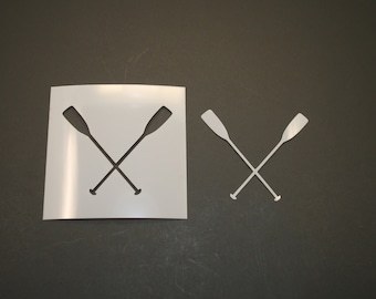 Crossed Oars Stencil RE-USABLE 8 x 7.5 inch