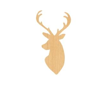 Deer Heart Laser Cut Wood Shape DER20