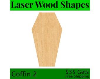DIY Halloween Crafts Blank Wood Halloween Shapes Halloween Craft Shapes Coffin Cutout Shape Paintable Coffin Cutout Creepy Coffin Shape