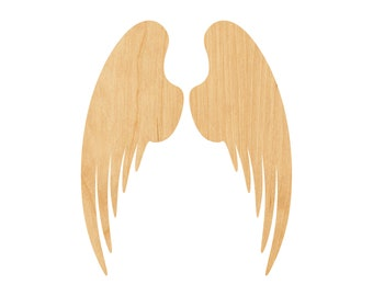 DIY Do-It-Yourself Wooden Angel Cutout Wood Angel Wings Door Hanger Paintable Wall Craft ANGEL WINGS Unfinished Wooden Craft Shape