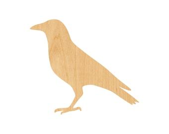 Crow Cut Out Wood Shape Craft Supply Wood Craft Bird Cutout Halloween Decor