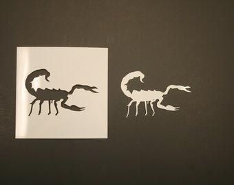 Art Supplies Scorpion 2 Reusable Mylar Stencil