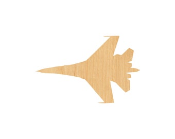 Fighter Jet Laser Cut Out Wood Shape Craft Supply F-22 Raptor Cutout