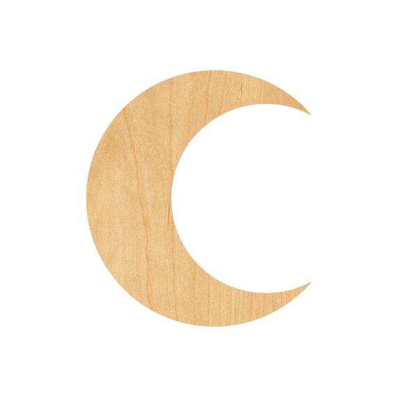 Laser Cut Crescent Moon Wooden Moon Crescent Moon Wood Cut Out