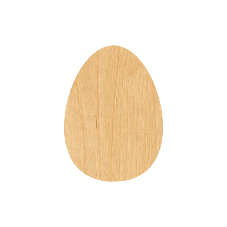 Unfinished Egg Laser Cut Out Wood Shape Craft Supply