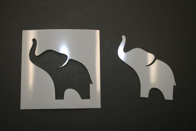 Baby Elephant Reusable Mylar Stencil Art Supplies