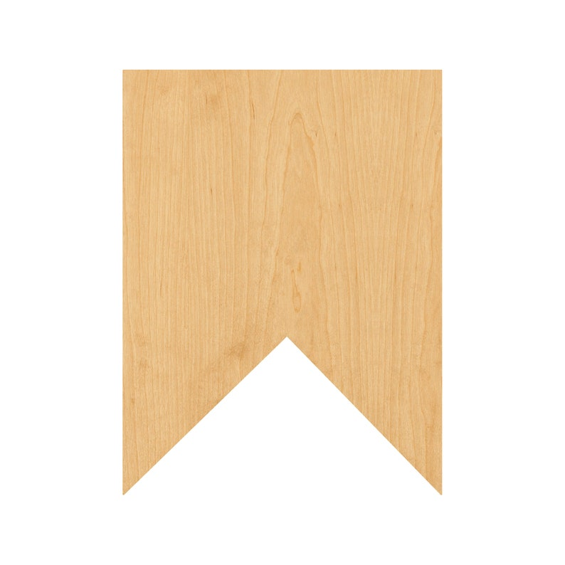 Square Bunting Laser Cut Out Wood Shape Craft Supply Unfinished