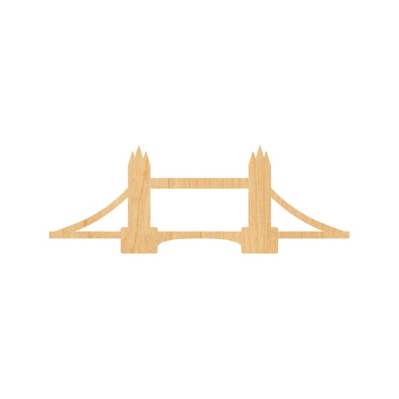 London Bridge Laser Cut Out Wood Shape Craft Supply Unfinished
