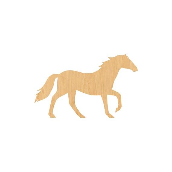 Laser Cut Wood Shape HRS38 Horse
