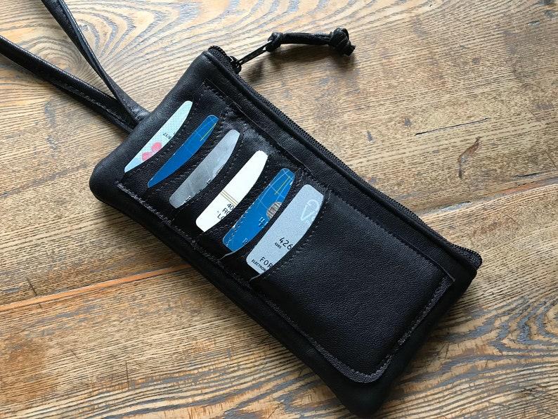 Wristlet  Card Holder  Phone Pocket  Zippered Wristlet  image 0