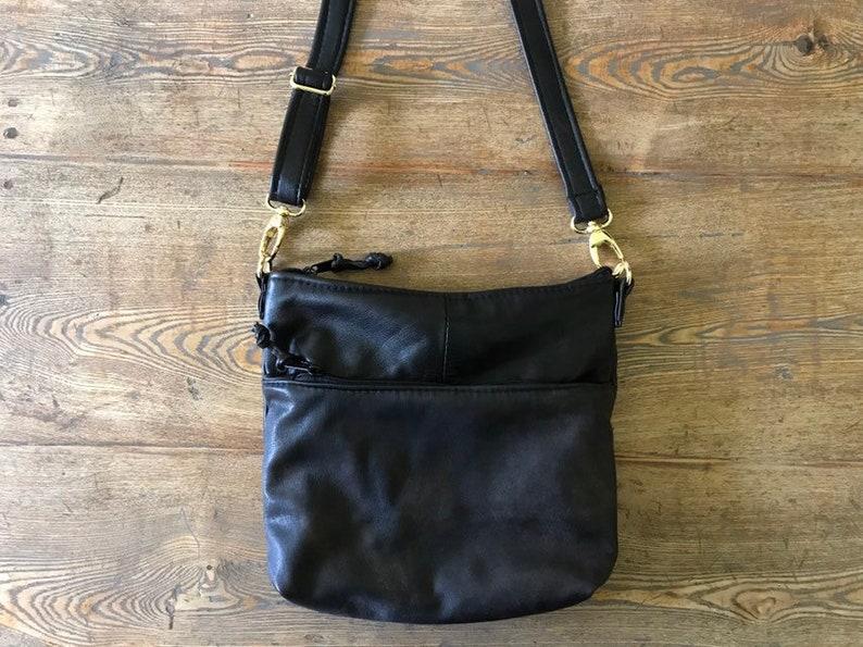Flat Tote  Upcycled Leather  Crossbody Bag image 0