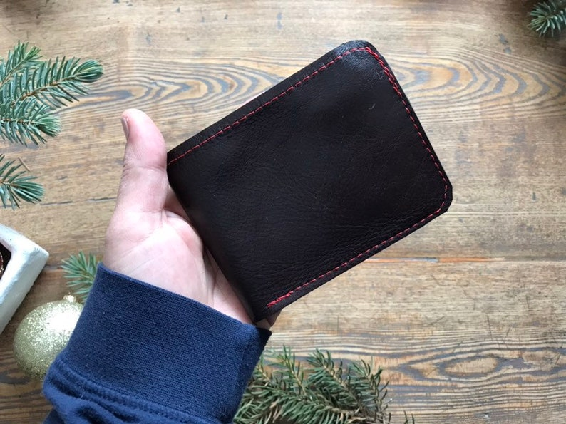 Wallet  Reclaimed Leather  Oxblood Tan or Black  image 0
