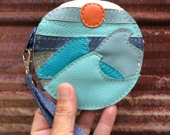 Moody Beach Circle Bag handcrafted from Reclaimed Leather