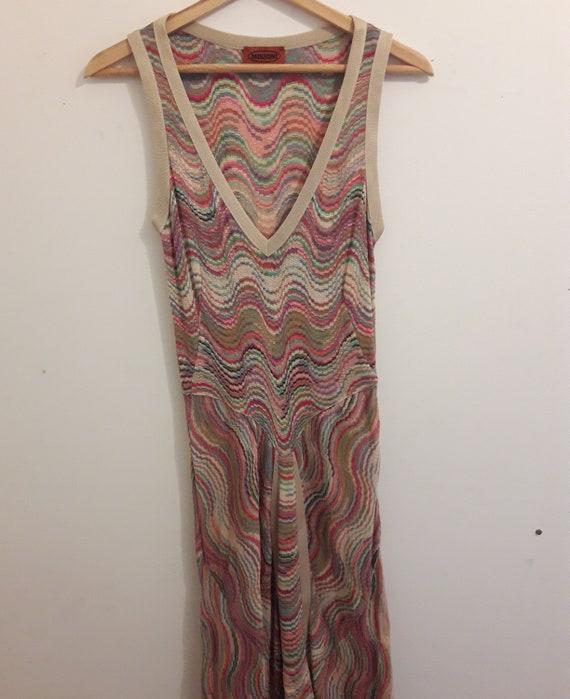 Rare Vintage Multicoloured Missoni Knit Dress - image 2