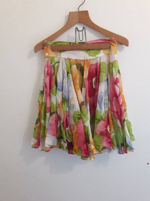Kenzo vintage rare floral skirt 1980's