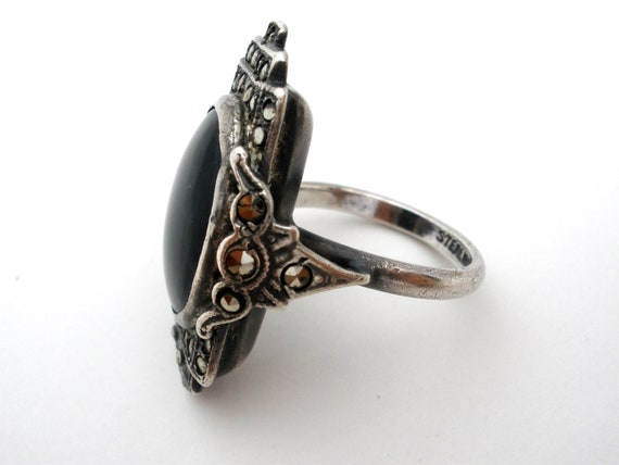 US-BON-015 Black Onyx Ring 925 Sterling Silver Handmade Jewelry
