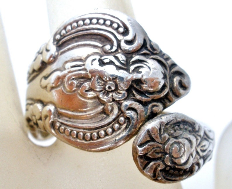 Sculptured Rose STERLING Jewelry Barrette Silver Towle Hair Clip