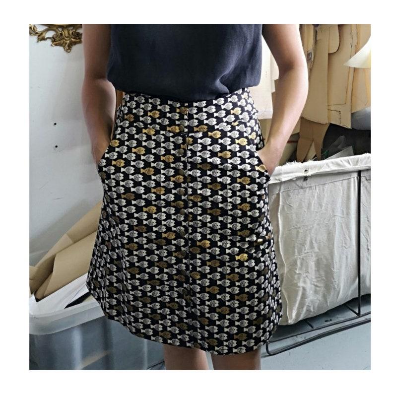 Jackson Skirt KAZAK Cotton Metallic Fish