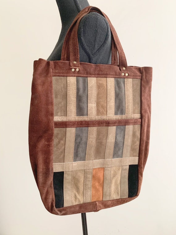 1970s Leather Patchwork Bag