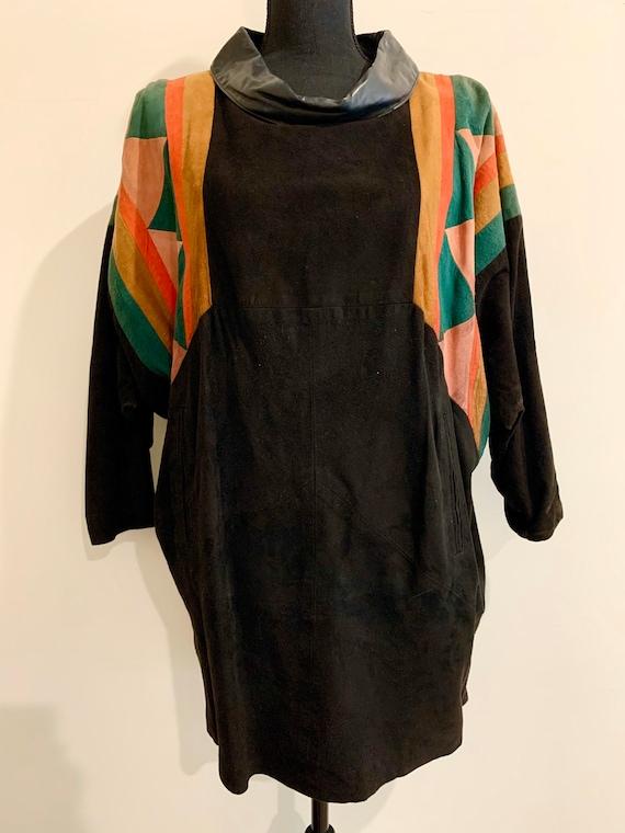 Vintage 70s SUEDE Minidress