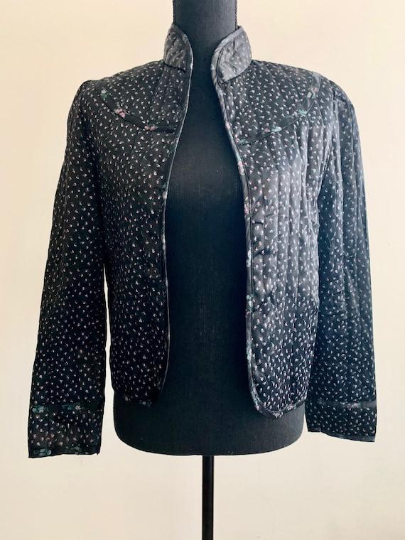 1980s Retro Victorian Satin Jacket