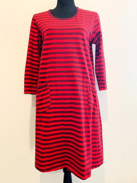 1980s Marimekko Stripe Dress