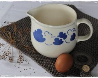 Jug vase milk jug planter decoration for garden blue VINTAGE favorite piece of lavender herzl