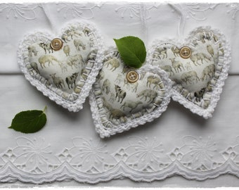 Lavender heart with acufactum motif crocheted deco gift pendant door wreath country style handmade by lavendelherzl