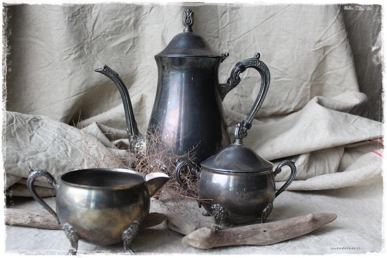 Vintage jug & co. sooo shabby silver decoration favorite piece image 0
