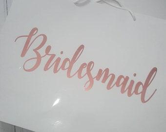 Personalised bridesmaid gifts bags, bridesmaid gifts, gift bags, bridesmaid box, maid of honour gift, large gift bag, bridal party gifts