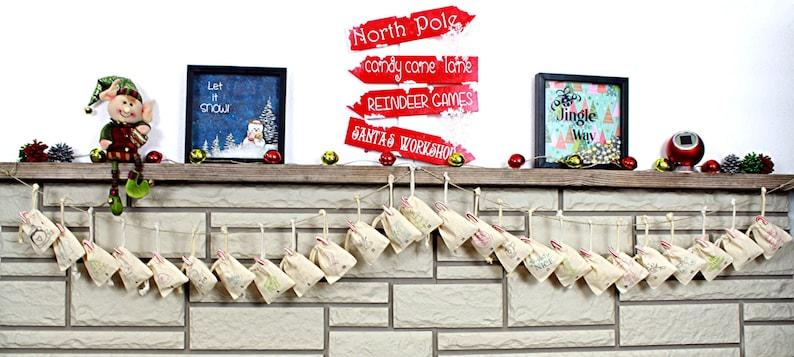 Advent Calendar Christmas Countdown Calendar Holiday Season Children/'s Advent Kids Holiday Decoration Christmas Advent Calendar