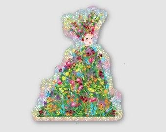 A24 MIDSOMMAR May Queen Dani Ardor Florence Pugh Flower Queen Holographic Glitter Sticker