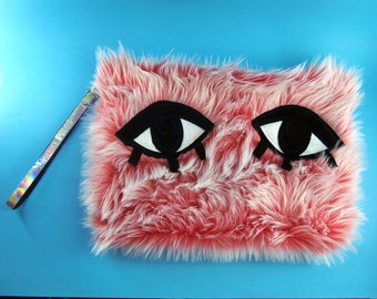 Iced Coral Monster Clutch Bag