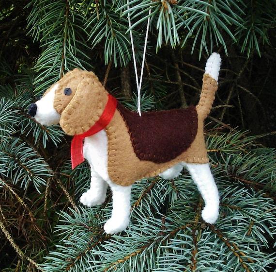 Beagle Christmas Tree Ornament, Dog Ornament, Wool Felt Beagle, Beagle  Decoration, Beagle Ornament - Beagle Christmas Tree Ornament Dog Ornament Wool Felt Etsy