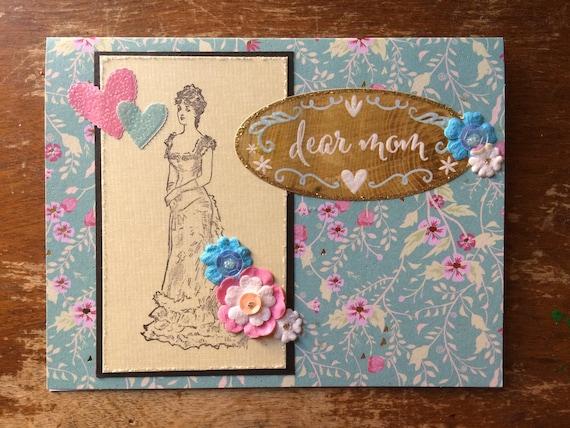 Mothers Day Card Fancy Birthday Mom